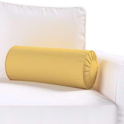Poduszka wałek z zakładkami 702-41 zgaszony żółty Kolekcja Cotton Panama