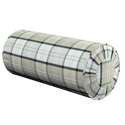 Bolster cushion with pleats 143-64 gray-beige check Collection Bristol
