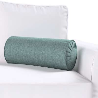 Bolster cushion with pleats 704-85 gray blue chenille Collection City