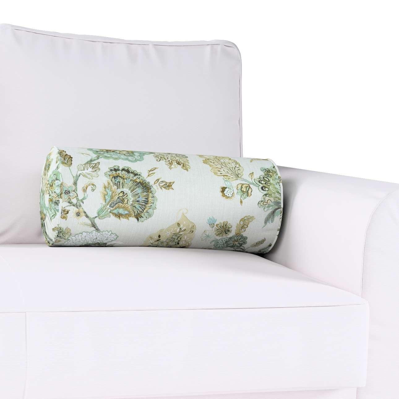 Poduszka wałek z zakładkami w kolekcji Flowers, tkanina: 143-67