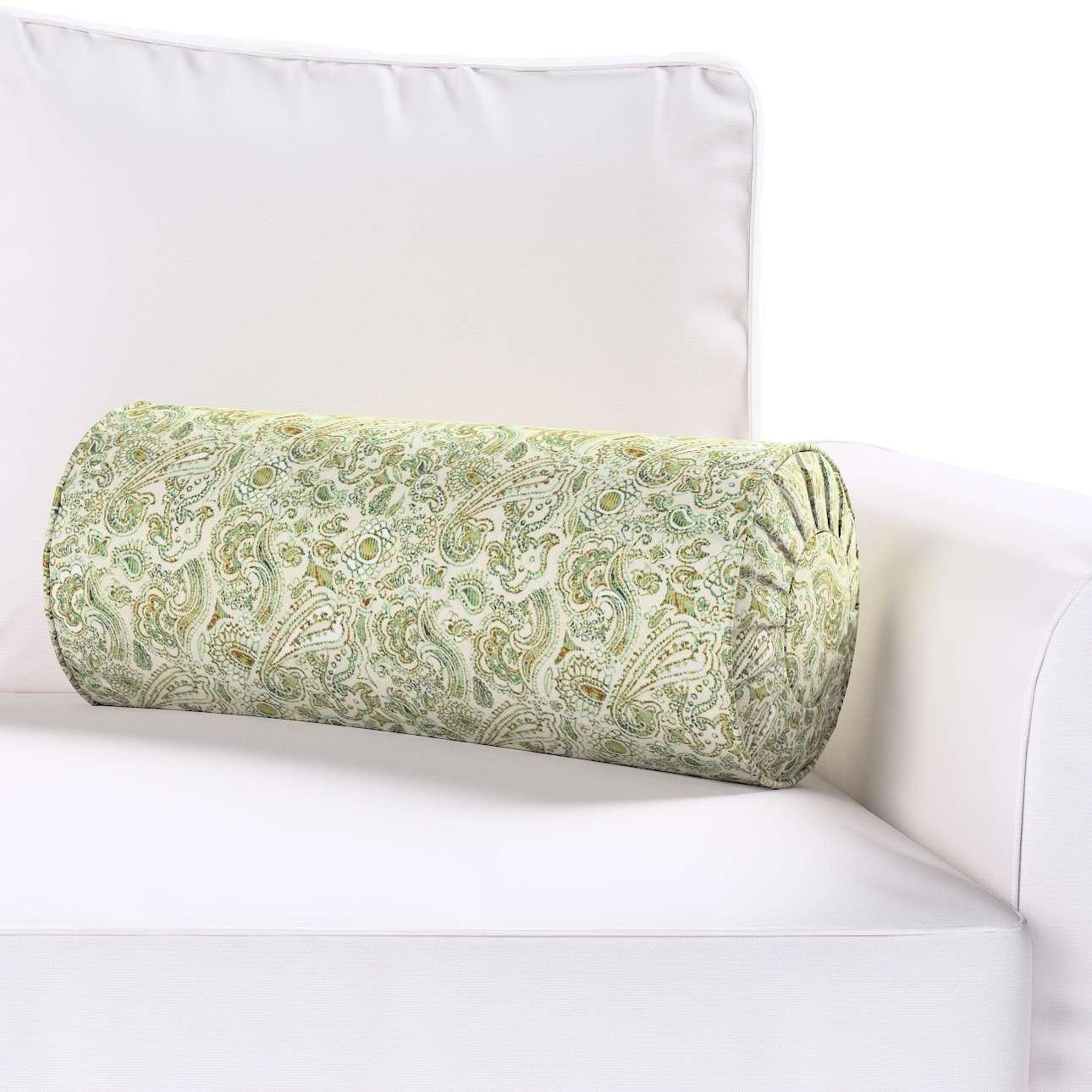 Poduszka wałek z zakładkami w kolekcji Flowers, tkanina: 143-68