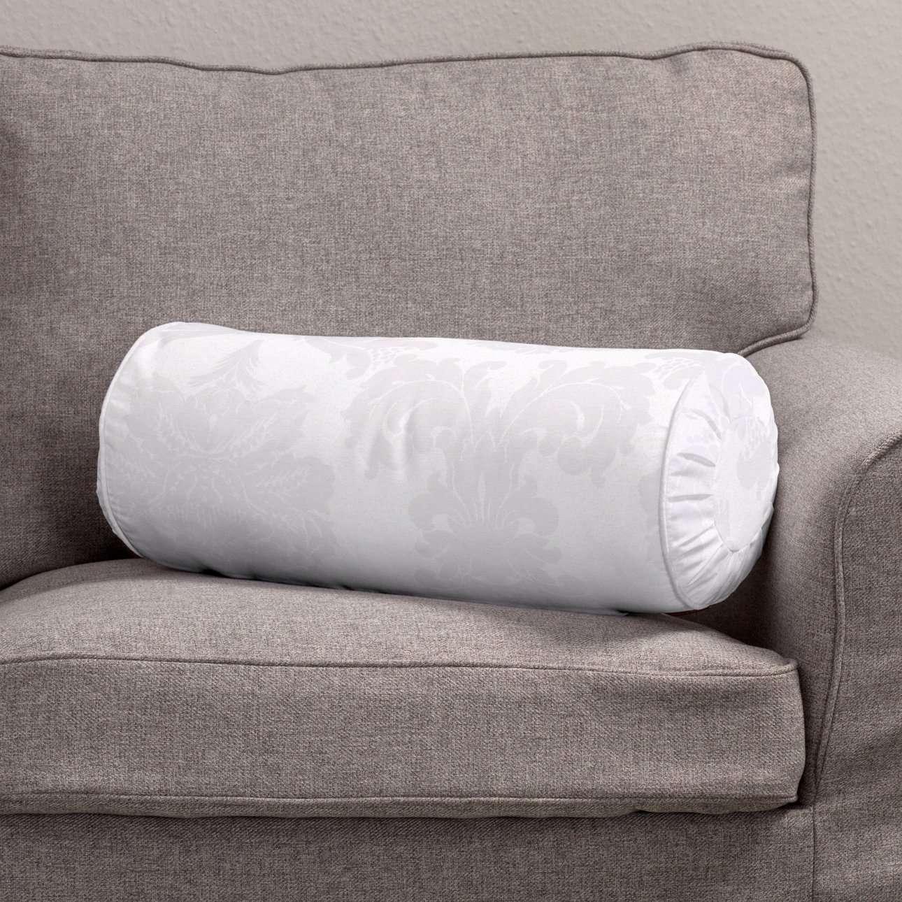 Ritinio formos  pagalvėlė su klostėmis Ø 20 x 50 cm kolekcijoje Damasco, audinys: 613-00