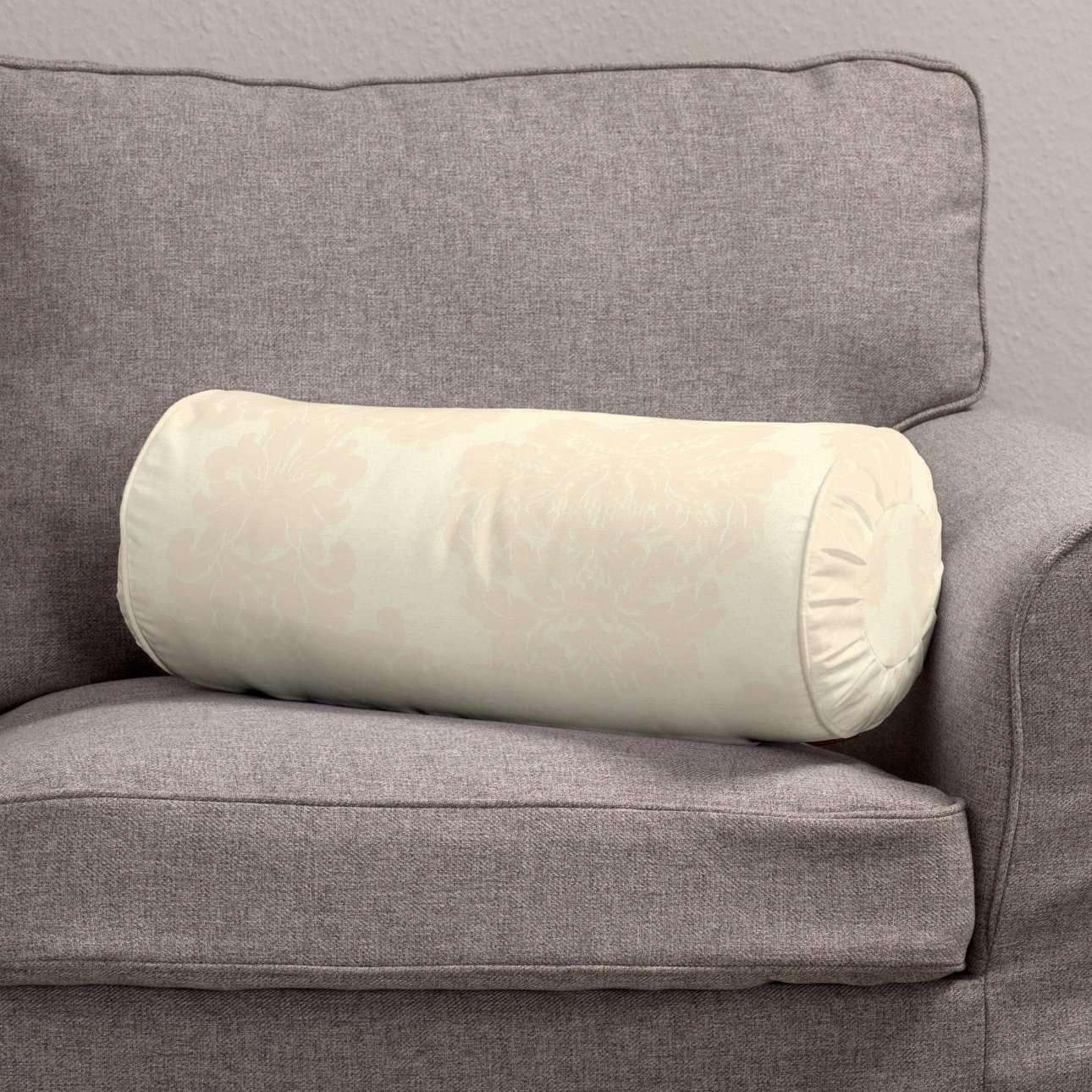 Ritinio formos  pagalvėlės užvalkalas su klostėmis Ø 20 x 50 cm kolekcijoje Damasco, audinys: 613-01