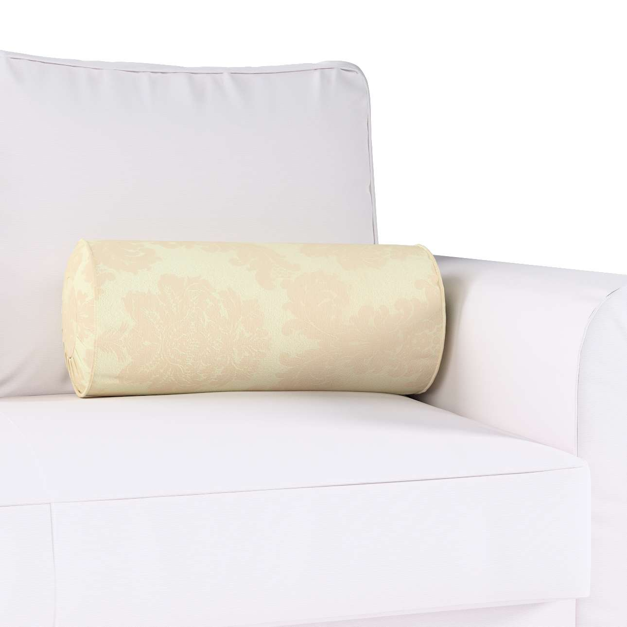 Poduszka wałek z zakładkami w kolekcji Damasco, tkanina: 613-01