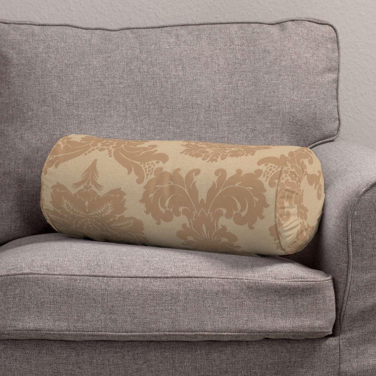 Ritinio formos  pagalvėlė su klostėmis Ø 20 x 50 cm kolekcijoje Damasco, audinys: 613-04