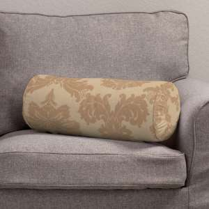 Bolster cushion with pleats Ø 20 x 50 cm (8 x 20 inch) in collection Damasco, fabric: 613-04