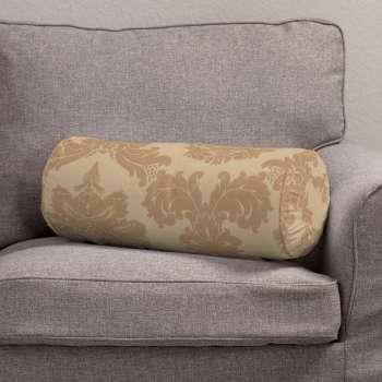 Poduszka wałek z zakładkami w kolekcji Damasco, tkanina: 613-04
