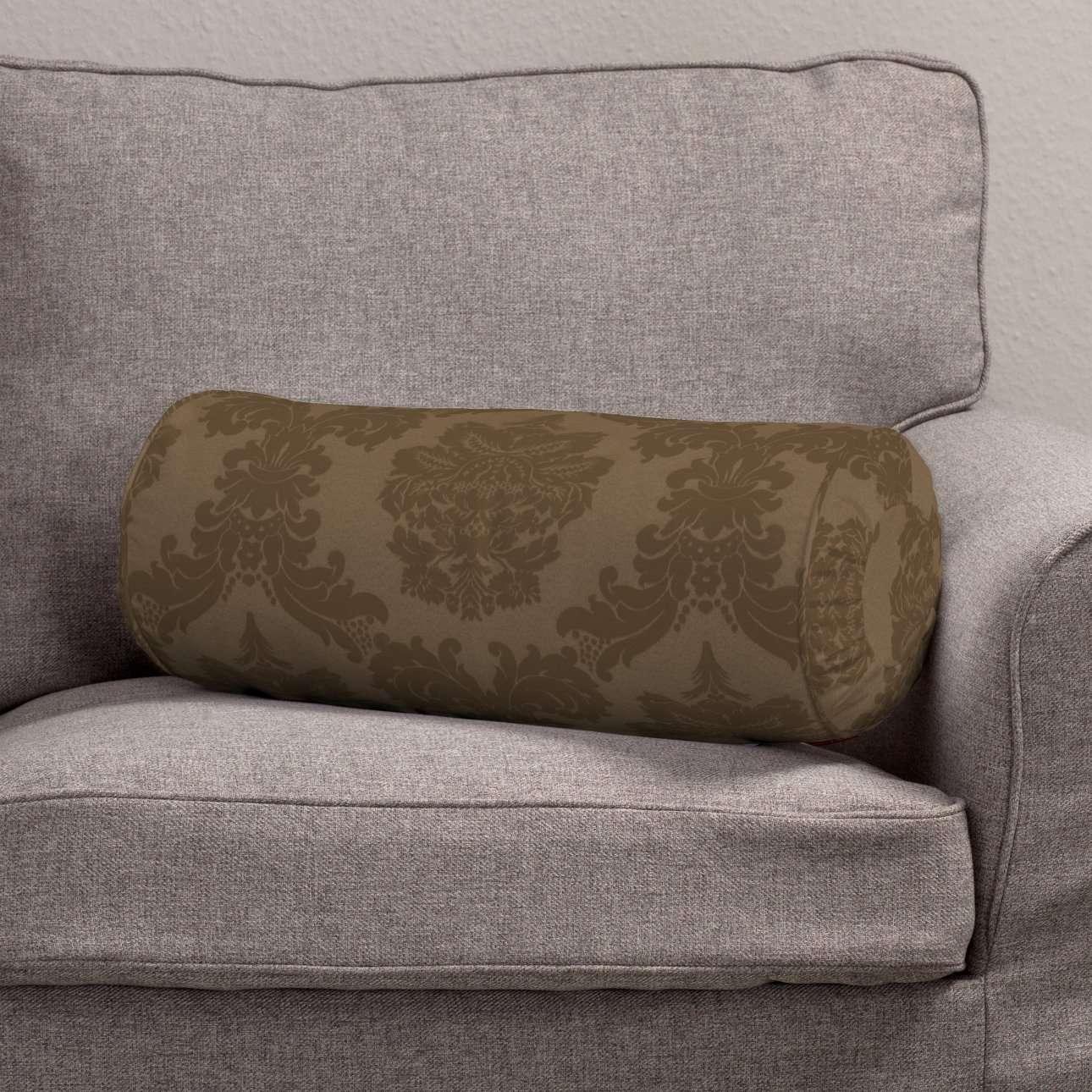 Ritinio formos  pagalvėlės užvalkalas su klostėmis Ø 20 x 50 cm kolekcijoje Damasco, audinys: 613-88