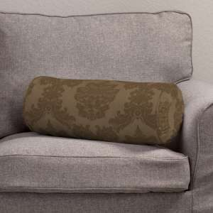 Bolster cushion with pleats Ø 20 x 50 cm (8 x 20 inch) in collection Damasco, fabric: 613-88