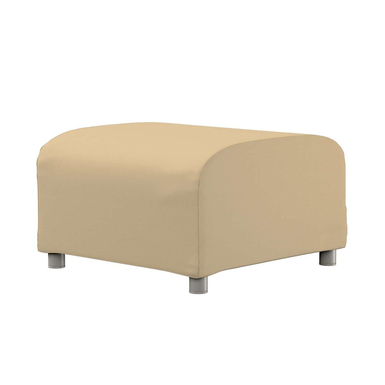 KLIPPAN pufo užvalkalas Klippan footstool cover kolekcijoje Cotton Panama, audinys: 702-01