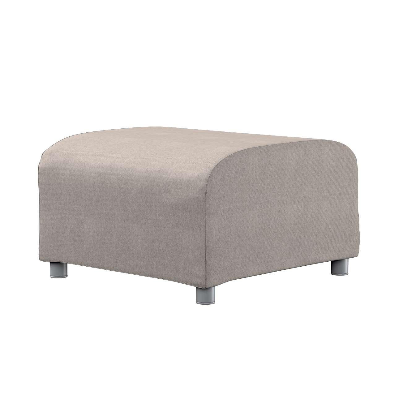 klippan hockerbezug beige grau dekoria. Black Bedroom Furniture Sets. Home Design Ideas
