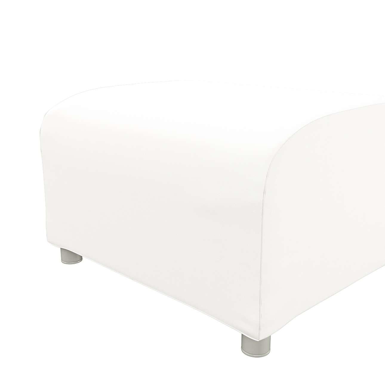Pokrowiec na podnóżek Klippan w kolekcji Cotton Panama, tkanina: 702-34