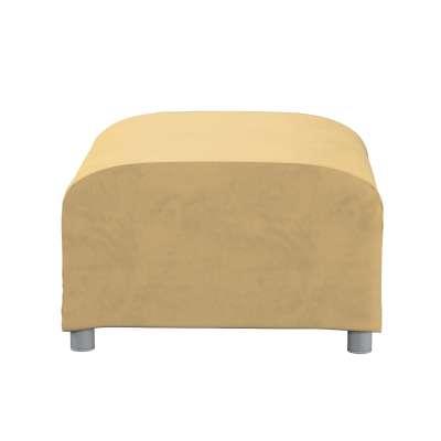 Pokrowiec na podnóżek Klippan 160-93 piaskowy szenil Kolekcja Living II