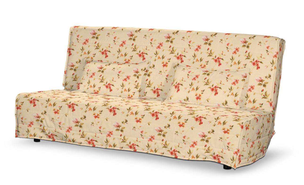 Beddinge quiltet betræk til sovesofa, lang, med 2 quiltede pudebetræk fra kollektionen Londres, Stof: 124-05