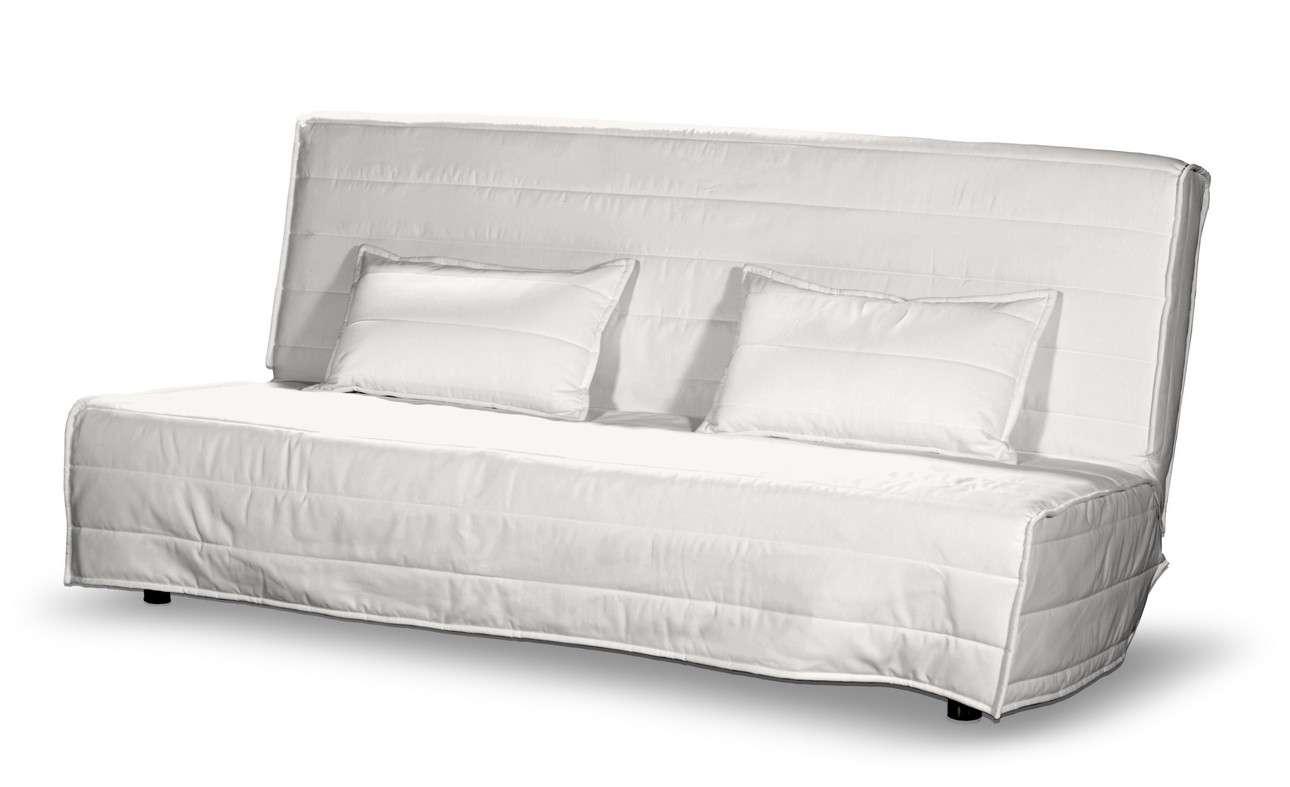 Beddinge quiltet betræk til sovesofa, lang, med 2 quiltede pudebetræk fra kollektionen Cotton Panama, Stof: 702-34