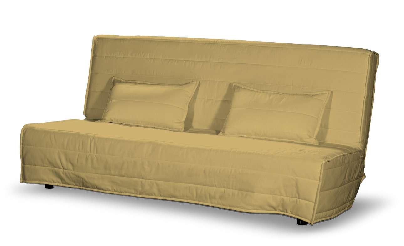 Beddinge quiltet betræk til sovesofa, lang, med 2 quiltede pudebetræk fra kollektionen Cotton Panama, Stof: 702-41