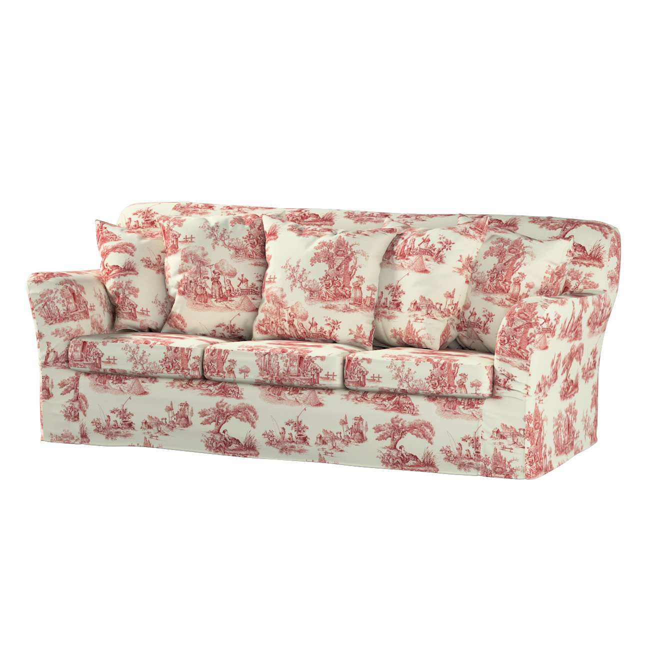 Pokrowiec na sofę Tomelilla 3-osobową nierozkładaną w kolekcji Avinon, tkanina: 132-15