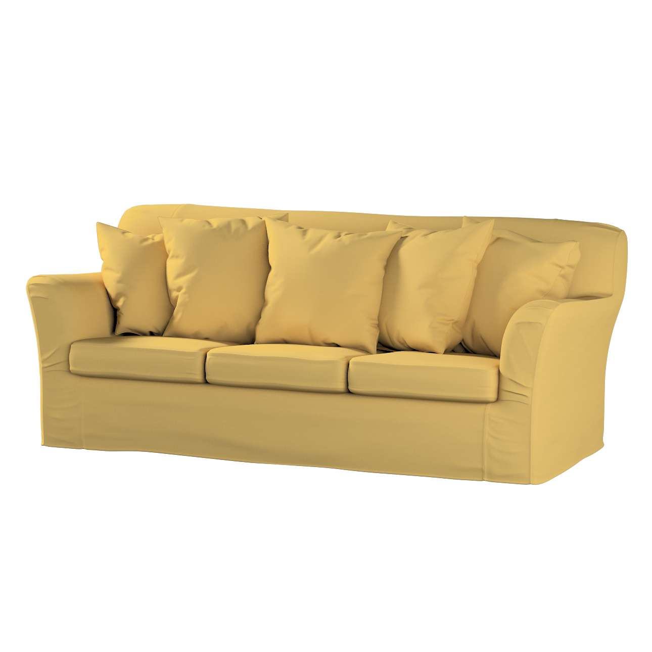 Pokrowiec na sofę Tomelilla 3-osobową nierozkładaną w kolekcji Cotton Panama, tkanina: 702-41