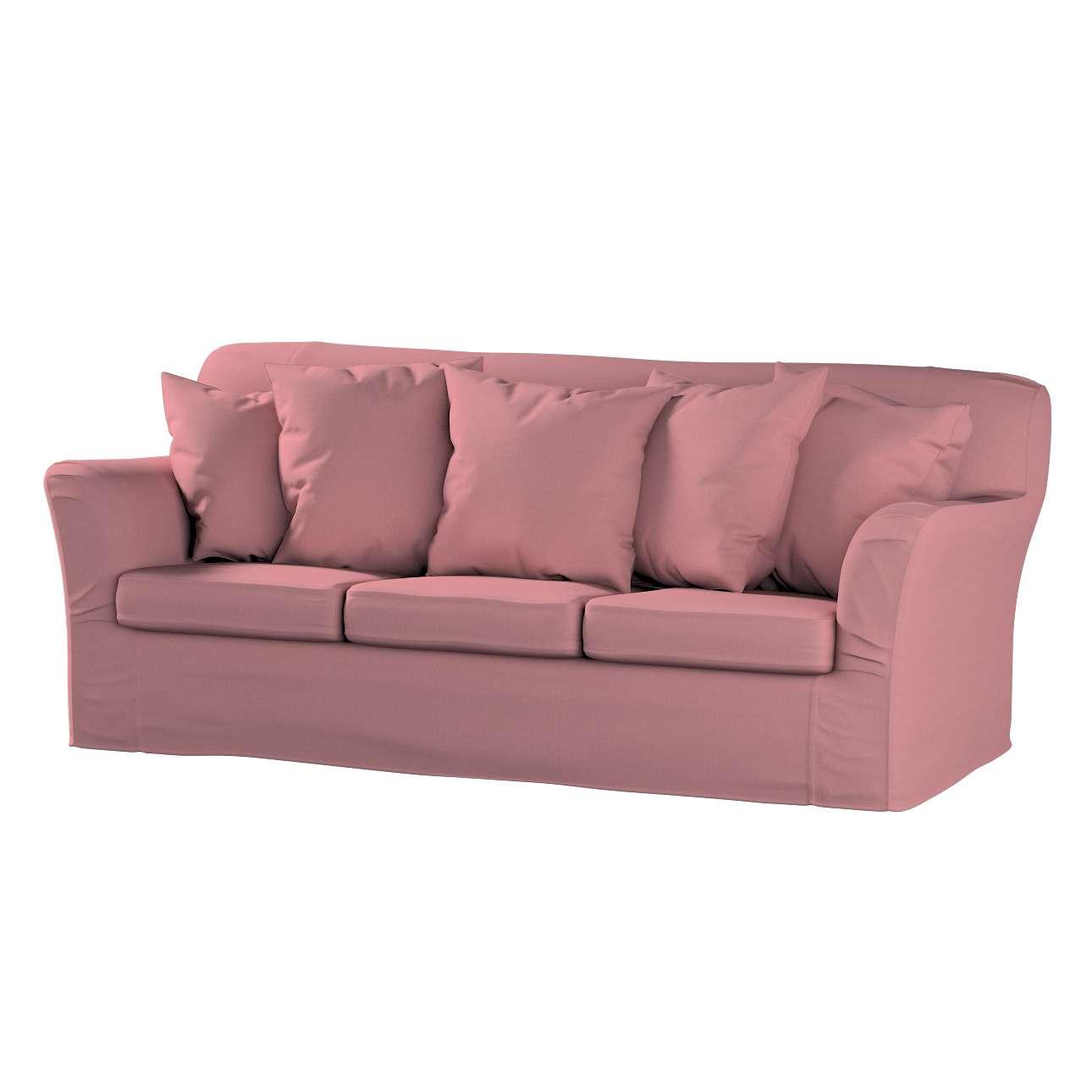 Pokrowiec na sofę Tomelilla 3-osobową nierozkładaną w kolekcji Cotton Panama, tkanina: 702-43
