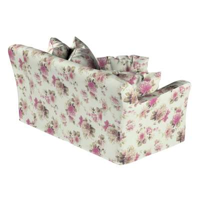 Tomelilla 2-seater sofa cover 141-07 pink and beige roses, ivory background Collection Londres