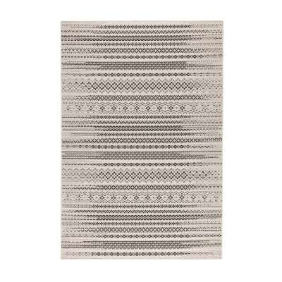 Modern Etno Wool Beige/Black Area Rug 160x230cm Rugs and Runners - Dekoria.co.uk