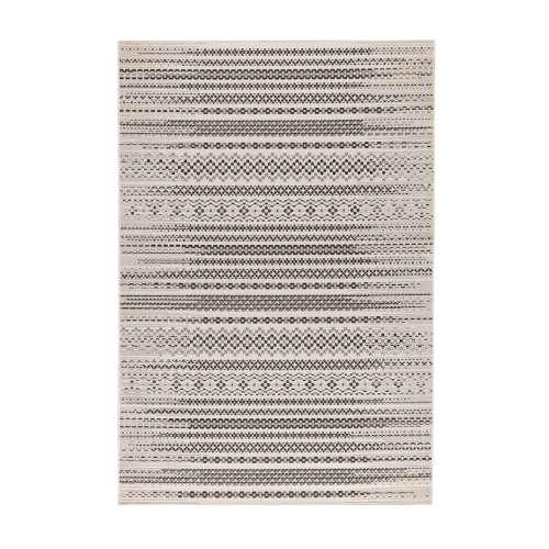 Modern Etno Wool Beige/Black Area Rug 160x230cm