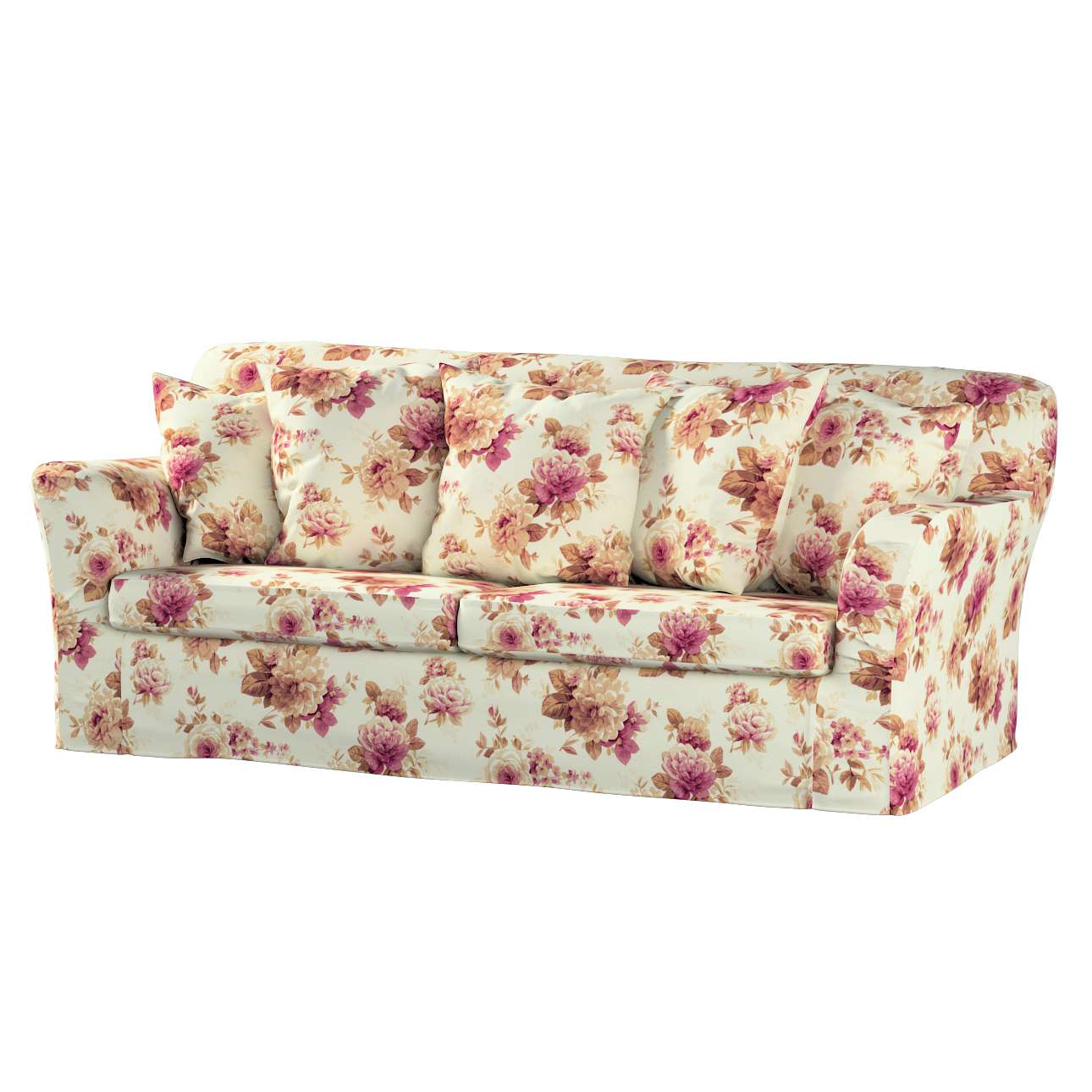 Pokrowiec na sofę Tomelilla 3-osobową rozkładaną w kolekcji Mirella, tkanina: 141-06