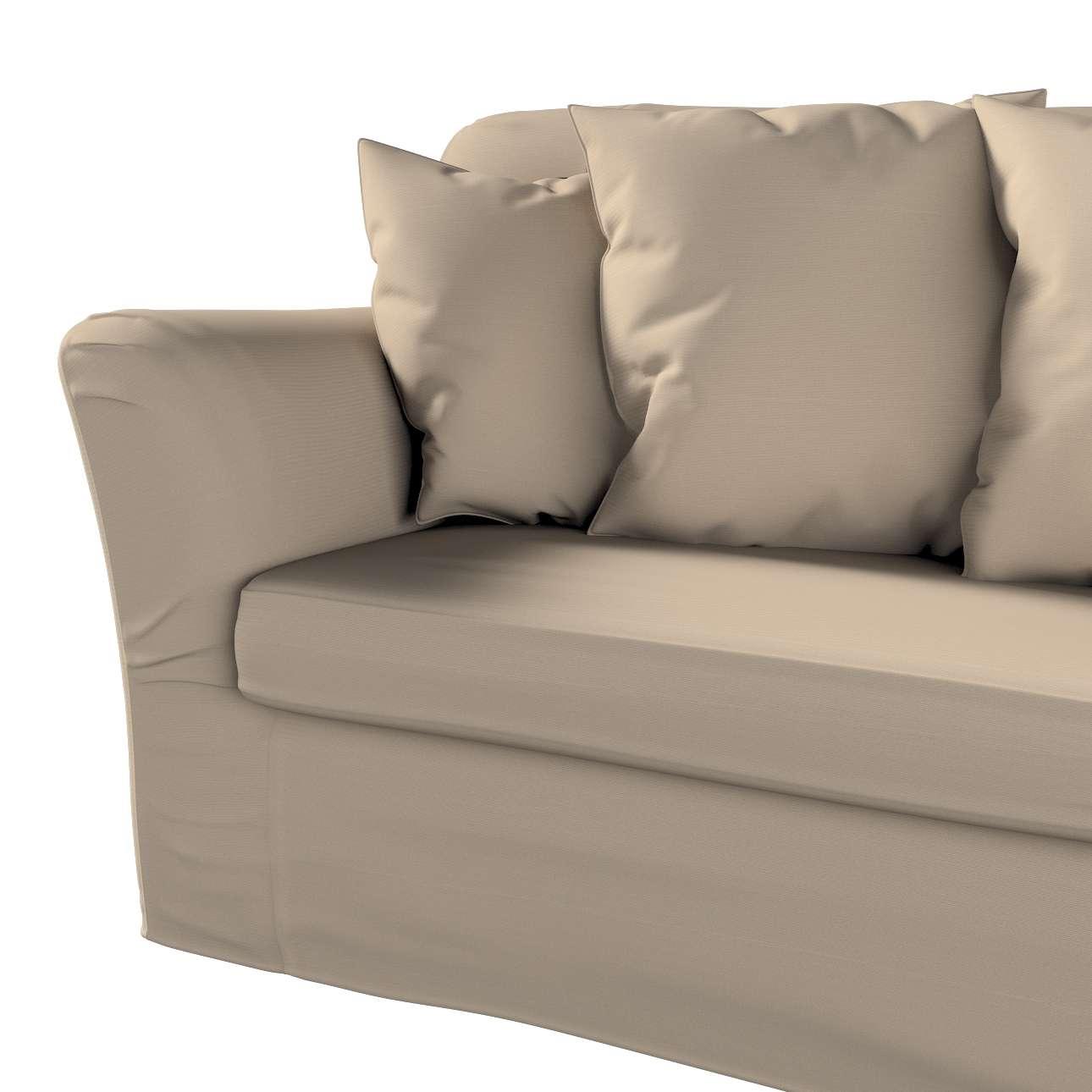 Pokrowiec na sofę Tomelilla 3-osobową rozkładaną w kolekcji Cotton Panama, tkanina: 702-28