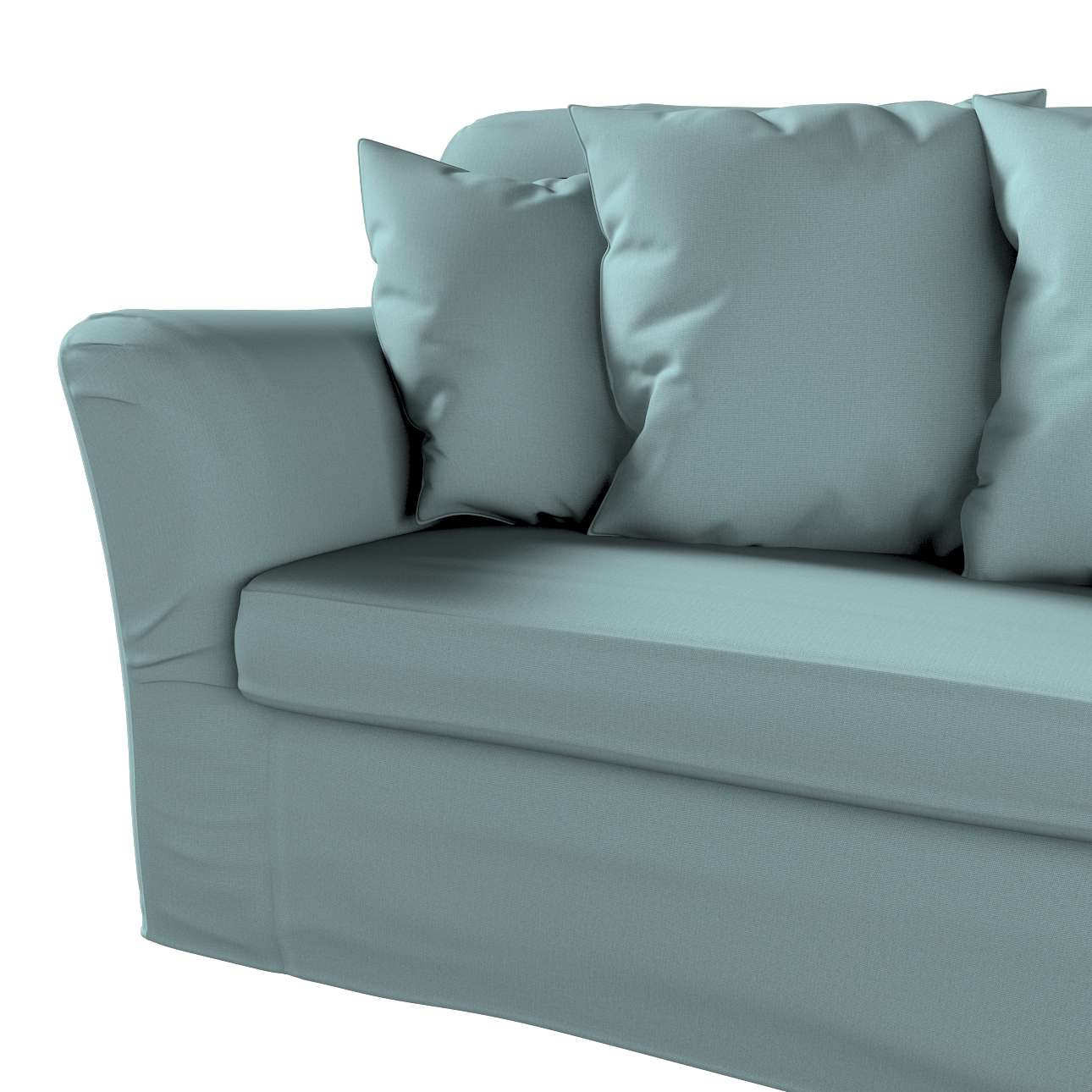 Pokrowiec na sofę Tomelilla 3-osobową rozkładaną w kolekcji Cotton Panama, tkanina: 702-40