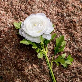 Deko-Trollblume 58cm white