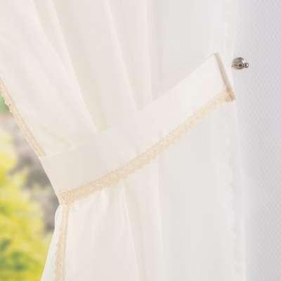 Firany Lily 2 szt. z koronką długie w kolekcji Woale, tkanina: 900-01