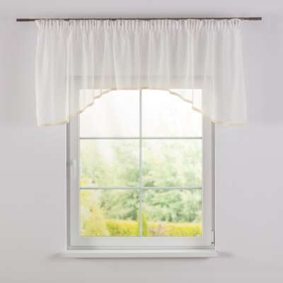 Lily white arched pelmet 900-01 ivory Collection Voile