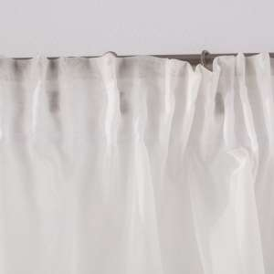 Lily white arched pelmet 200x80 cm in collection Voile, fabric: 900-01