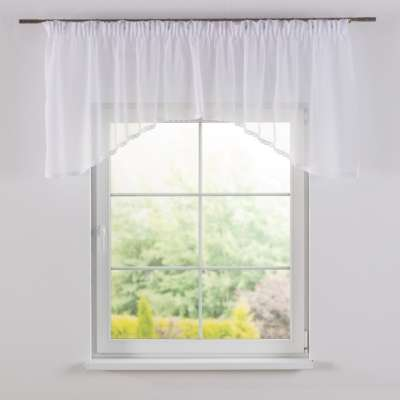 Lily white arched pelmet 900-00 white Collection Voile