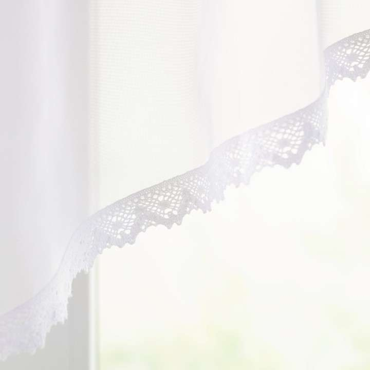 Obloukový lambrekin Lily z voálu a s krajkou 200x80 cm v kolekci Voile - Voál, látka: 900-00