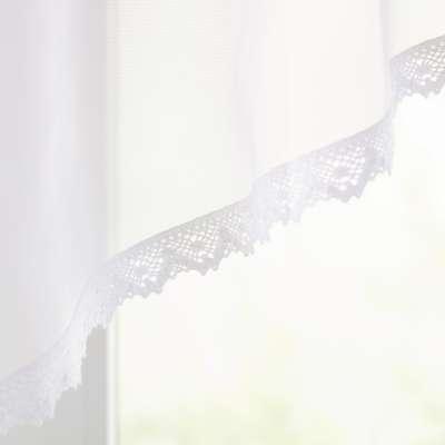 Drapéria Lily, fehér voile pamutcsipkeszegéllyel