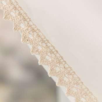 Firany Lily 2 szt. z koronką krótkie 140x150 cm w kolekcji Woale, tkanina: 900-01