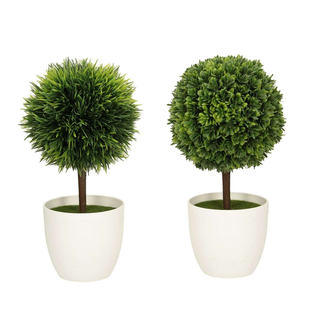 Set of 2 Faux Plants H 26 cm