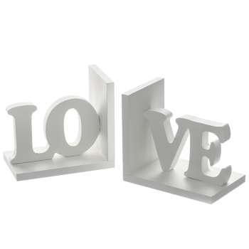 Komplet podpórek do książek Love White