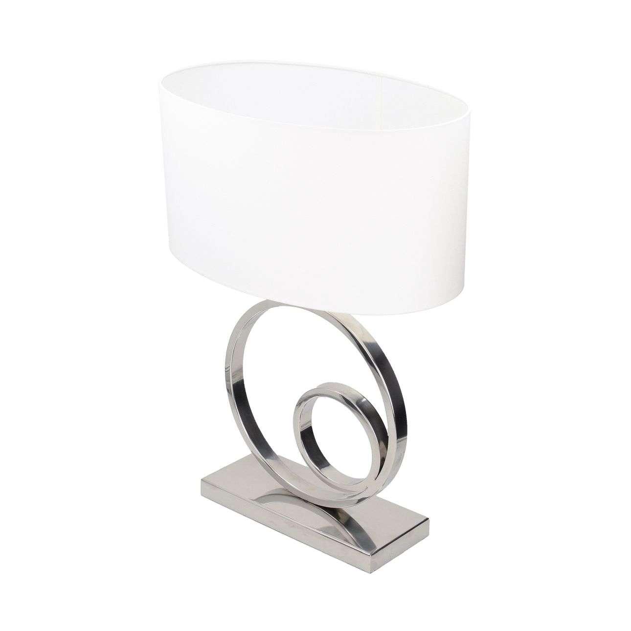 Tischlampe mit ovalem Lampenschirm