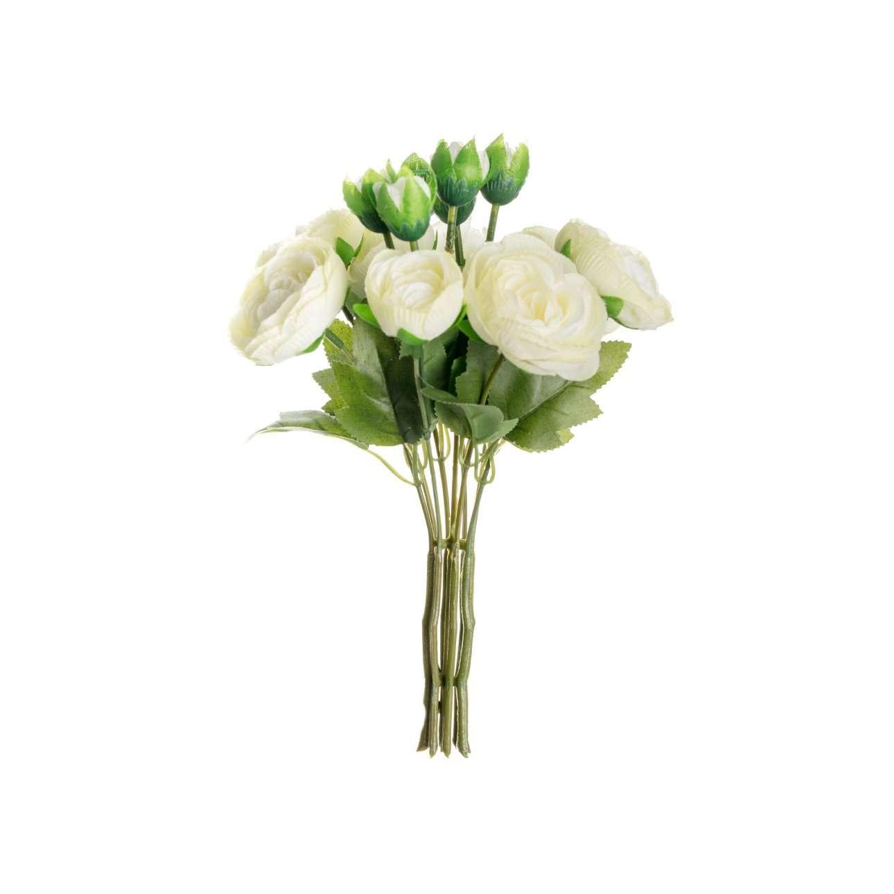 Kunstboeket White Roses 25cm
