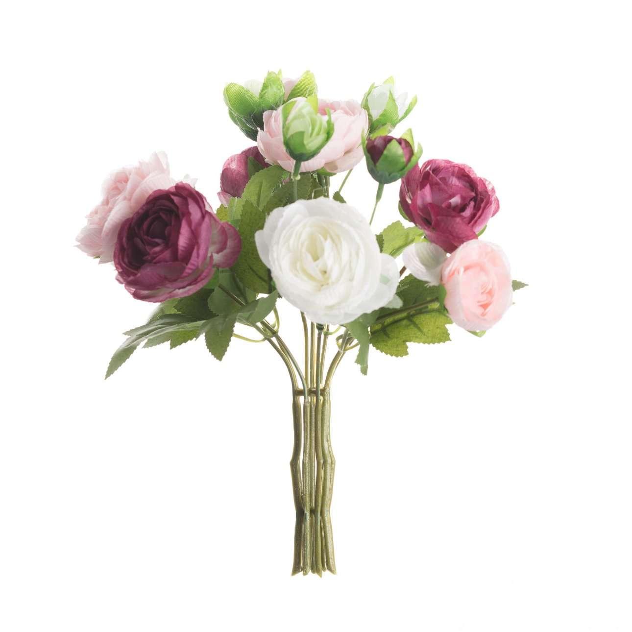 Artificial Mixed Roses Bouquet H 27 cm