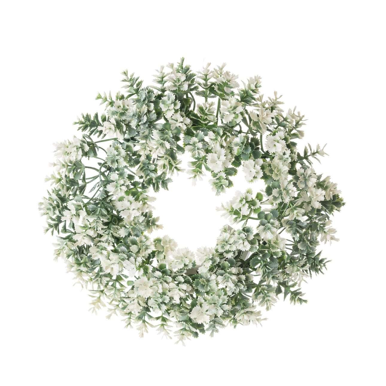 White Artificial Flower Wreath Dia 20 Cm Dekoria