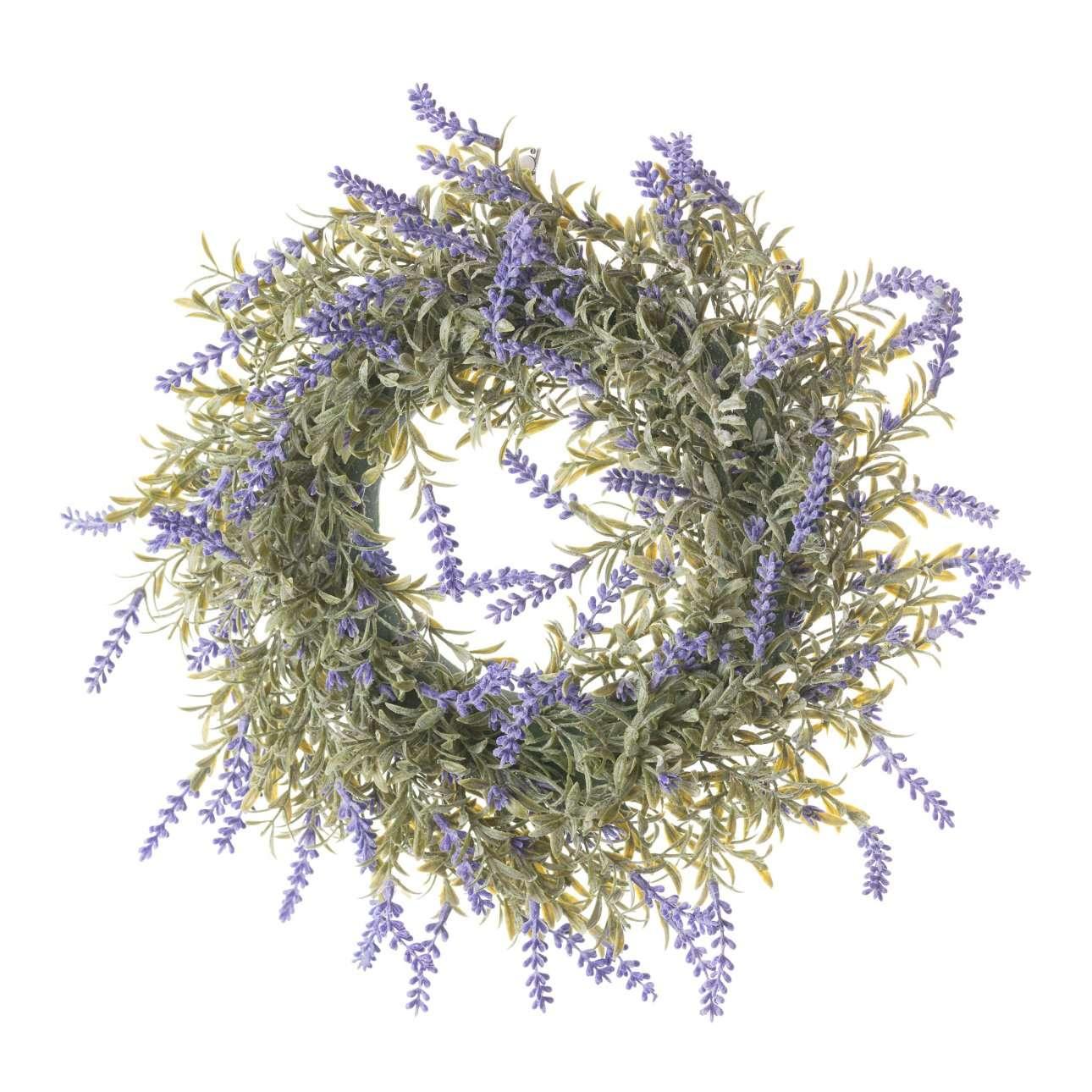 Artificial Heather Wreath Dia 32 cm
