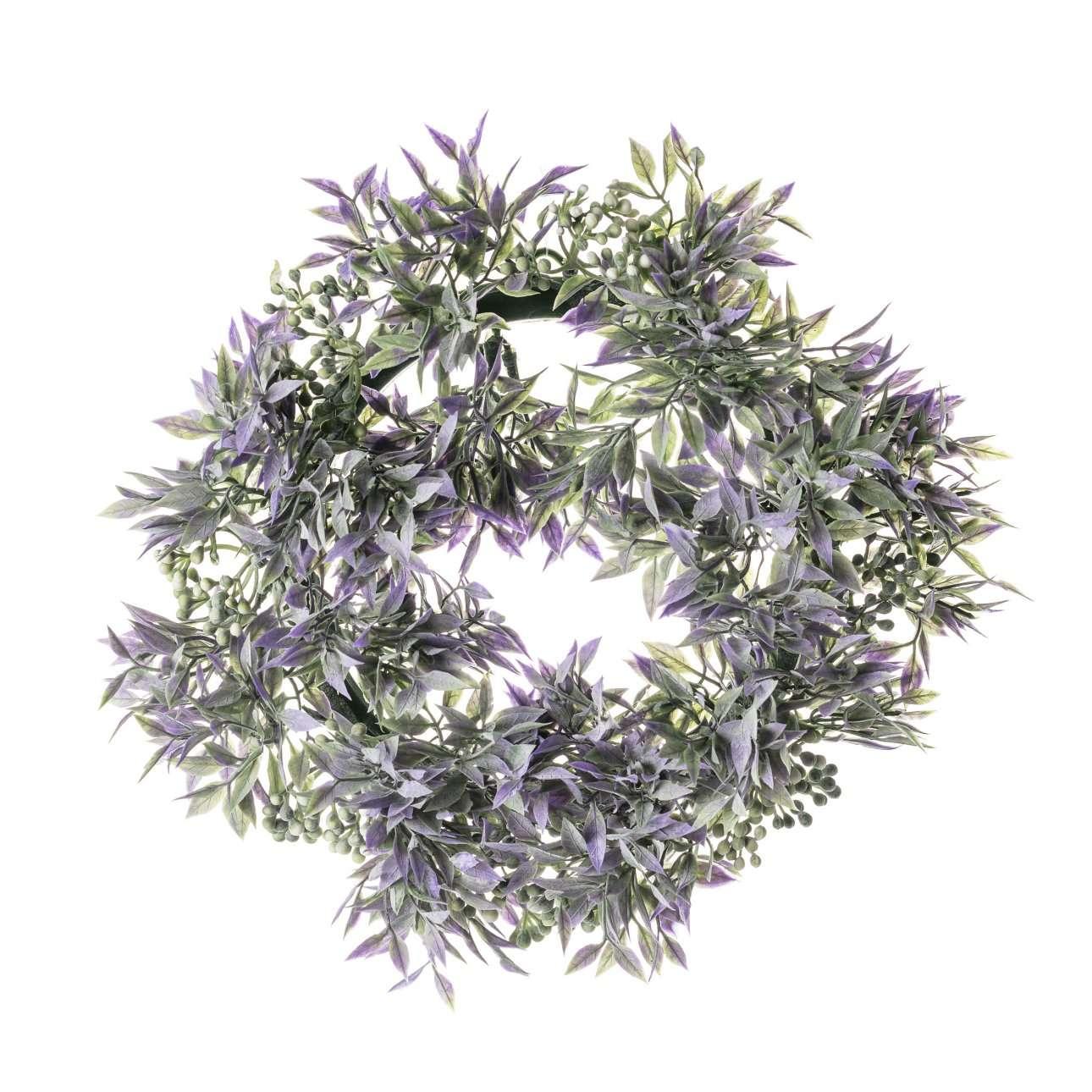 Artificial Lavender Wreath Dia 26 cm