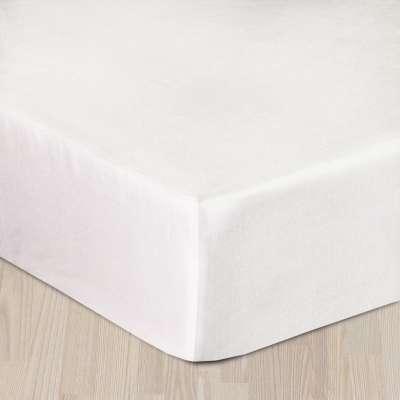 Prześcieradło satynowe z gumką białe 90 × 200 cm
