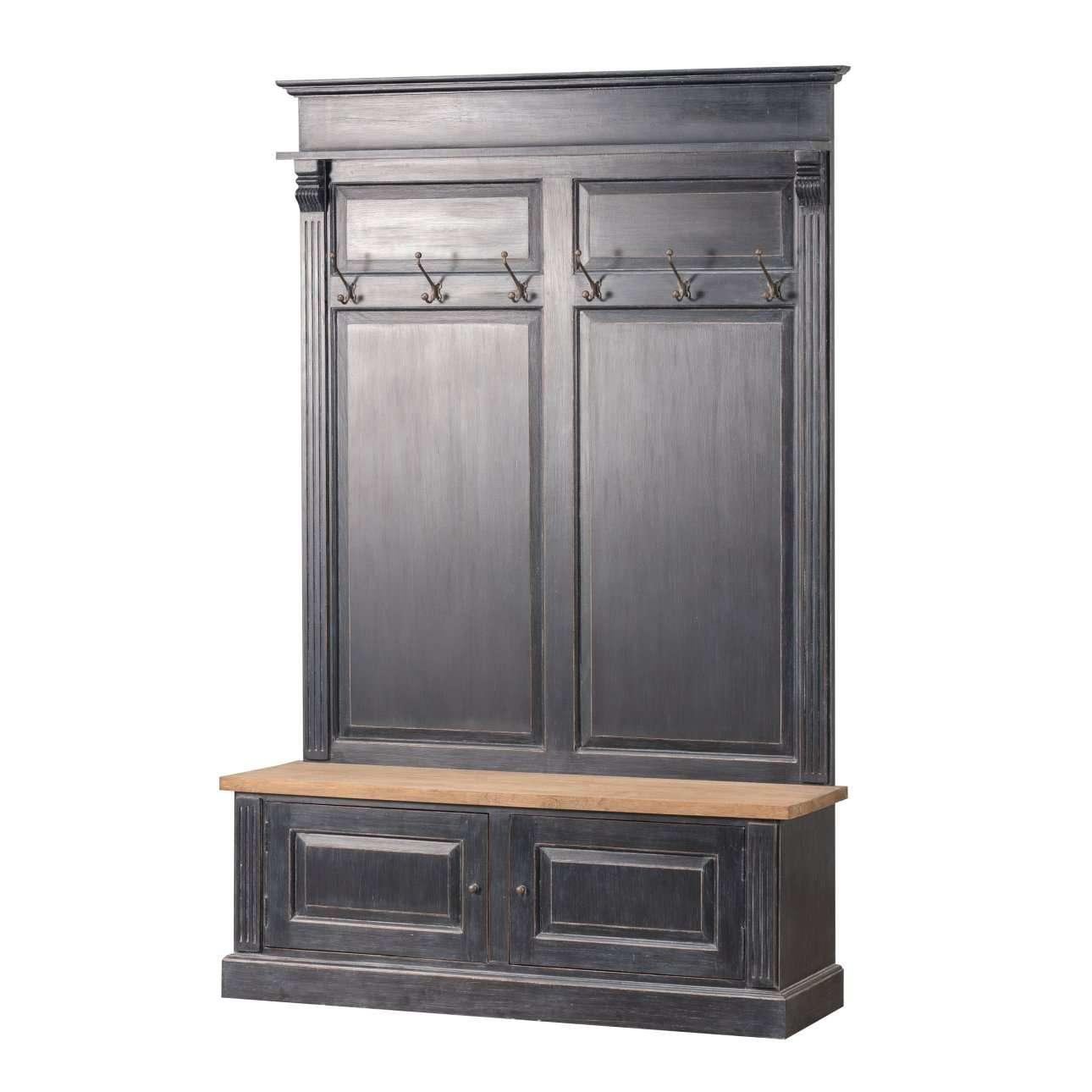 Garderoba Bradford Do Przedpokoju 139x45x210 Old Black Natural