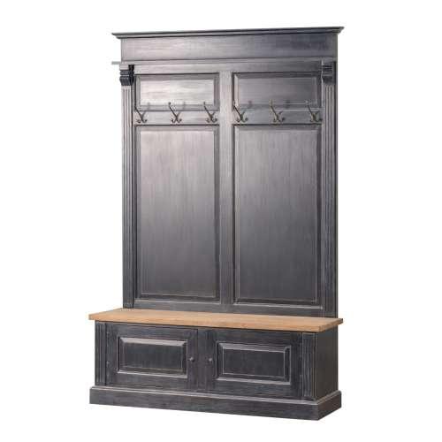 Garderoba Bradford do przedpokoju 139x41x210 old black & natural