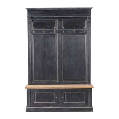 Garderoba Bradford do przedpokoju 139x45x210 old black & natural