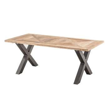 Stół Moscal 200x100x78 black&natural